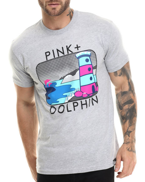 Pink Dolphin - Men Grey Portrait V I I I S/S Tee