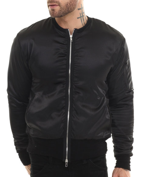 Eptm. - Men Black Cadillac Satin Bomber