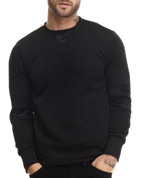 Eptm. - Men Black Quilted Batman Officer Crewneck Sweatshirt