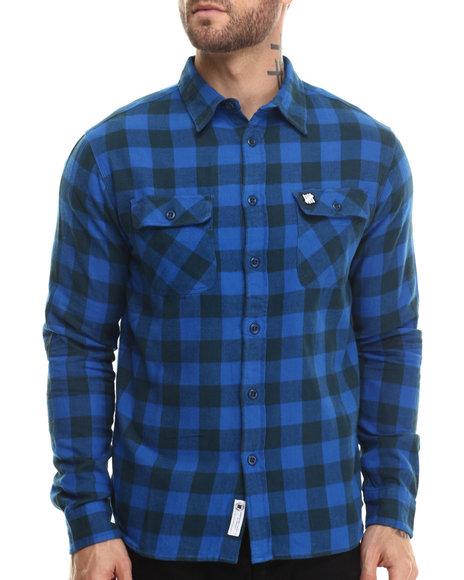 Undftd - Men Blue Franchise Flannel L/S Button-Down