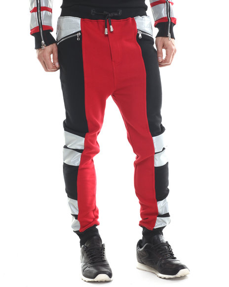 Winchester - Men Red Winchester Slight Drop Crotch 3M Jogger Pants