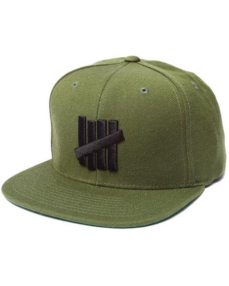 Undftd Men 5 Strike Snapback Cap Olive