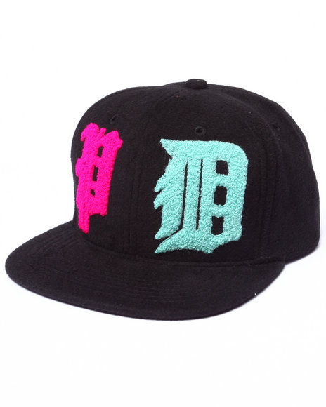 Ur-ID 222949 Pink Dolphin - Men Black Wavelordz I I Snapback Hat
