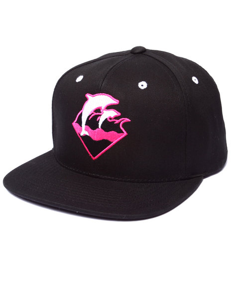 Pink Dolphin Men Holiday Waves Snapback Hat Black