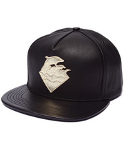 Men - Waves Leather Snapback Hat