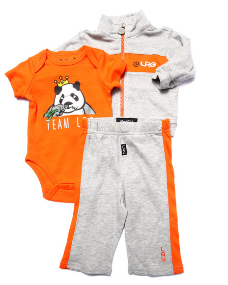 Lrg - Boys Grey 3 Pc Set - Jacket, Pants, & Bodysuit (Newborn) - $25.99