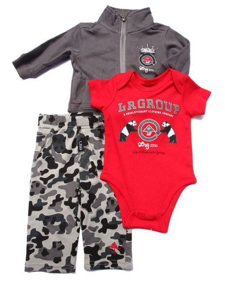 Lrg - Boys Red 3 Pc Set - Jacket, Pants, & Bodysuit (Newborn)