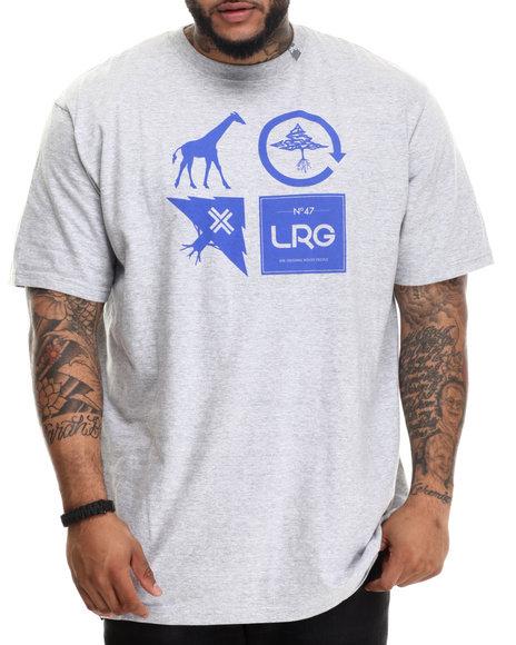 Lrg - Men Grey Logo Cluster T-Shirt (B&T)