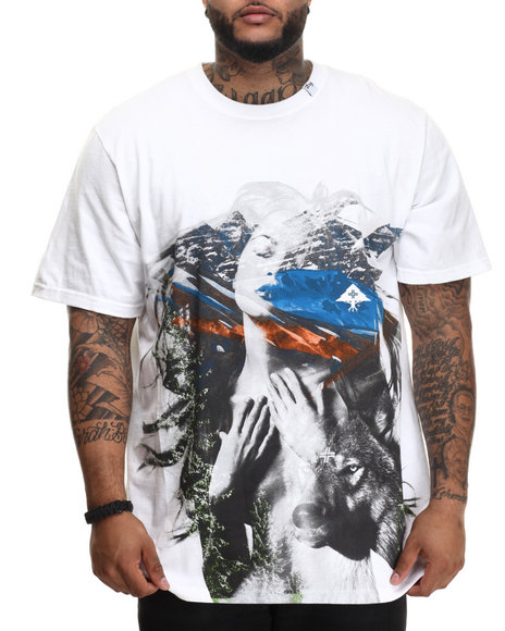 Lrg - Men White Nature T-Shirt (B&T) - $36.00