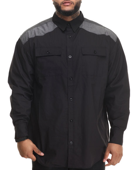 Ecko - Men Black 72 Flag L/S Button-Down (B&T) - $54.00