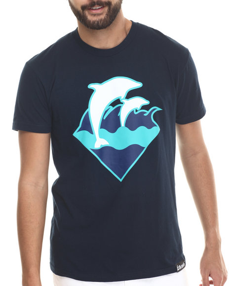 Pink Dolphin - Men Navy Holiday Waves S/S Tee