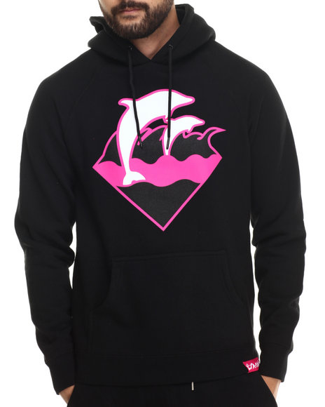 Pink Dolphin - Men Black Holiday Waves Hoodie
