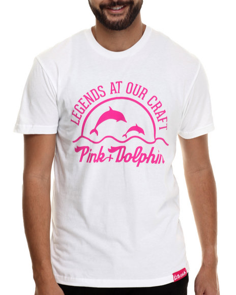 Pink Dolphin White T-Shirts