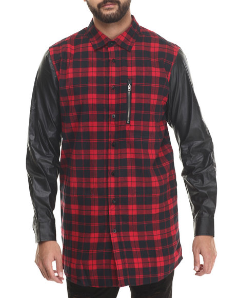 Rocksmith - Men Red Flacko Flannel L/S Button-Down - $76.00