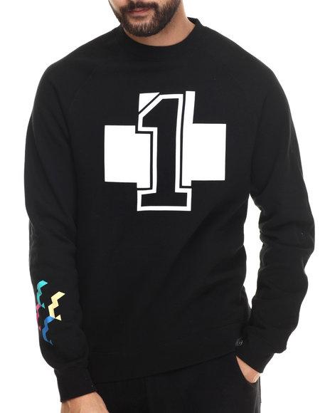 Pink Dolphin - Men Black No. 1 Crewneck Sweatshirt - $35.99
