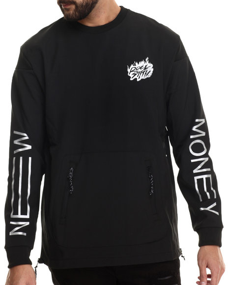Rocksmith - Men Black New Money Neoprene Sweatshirt