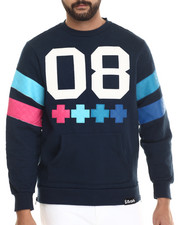 Men - Quilted Cross Crewneck Sweatshirt