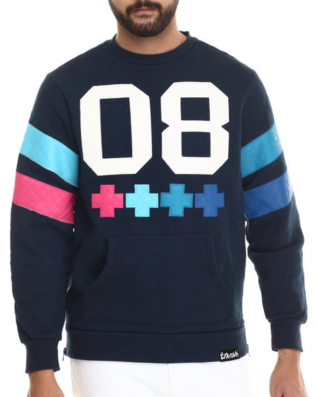 Pink Dolphin Navy Pullover Sweatshirts