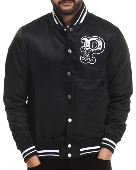 Pink Dolphin - Men Black Composition Satin Jacket