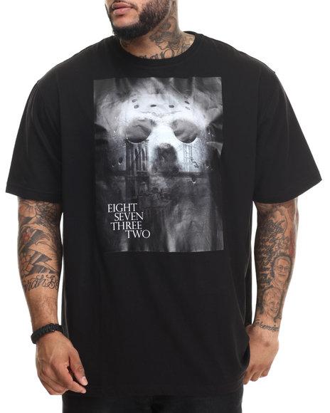Eight 732 Men Friday City T-Shirt (B&T) Black 4X