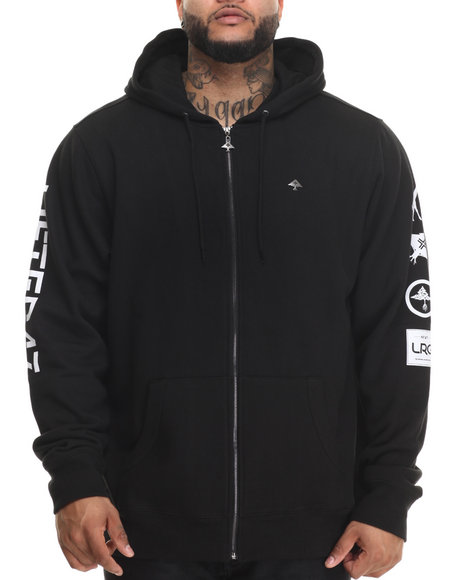 Lrg - Men Black Lifted 47 Zip-Up Hoodie (B&T)