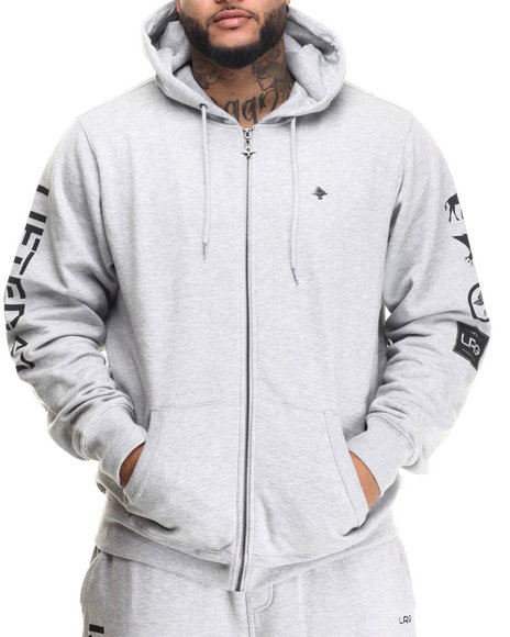 Lrg - Men Grey Lifted 47 Zip-Up Hoodie (B&T)