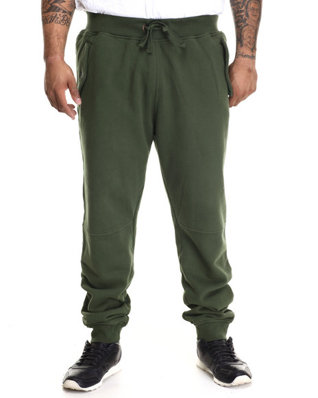 Lrg - Men Green Armament Fleece Jogger (B&T)