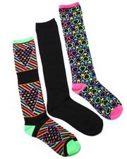 Accessories - Multi Hearts 3Pk Knee High Socks