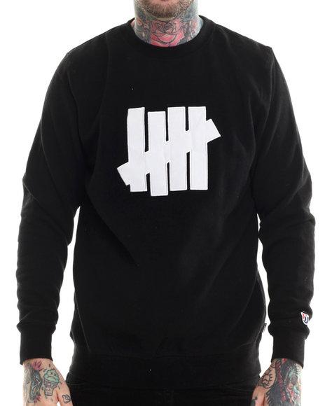 Undftd - Men Black 5 Strike Crew Sweatshirt