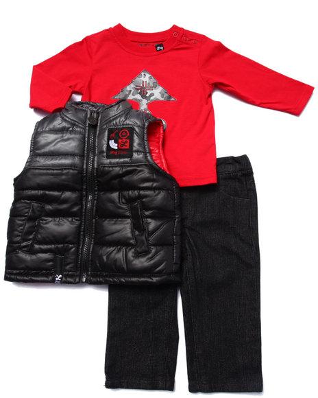 Lrg - Boys Black 3 Pc Set - Vest, Tee, & Jeans (Infant)