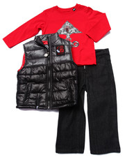 Sizes 2T-4T - Toddler - 3 PC SET - VEST, TEE, & JEANS (2T-4T)