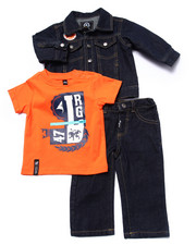 LRG - 3 PC SET - DENIM JACKET, TEE, & JEANS (INFANT)