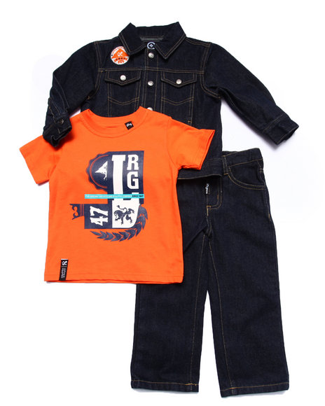 Lrg - Boys Dark Wash 3 Pc Set - Denim Jacket, Tee, & Jeans (2T-4T) - $25.99