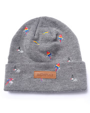 Men - Bird Embroidered Beanie