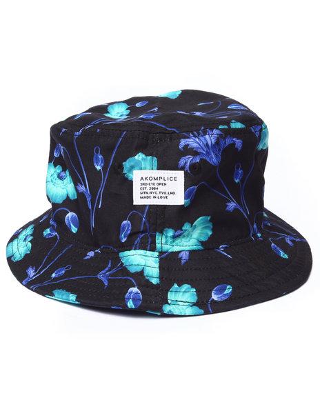 Akomplice Men Bright Poppy Bucket Hat Black Large/X-Large - $32.00