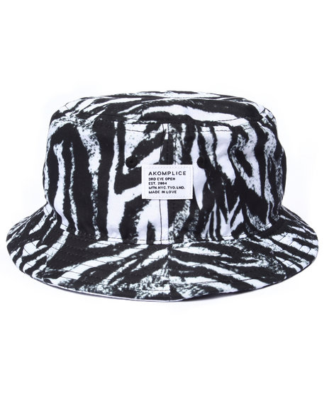 Akomplice Men Zebra Bucket Hat Black - $28.99
