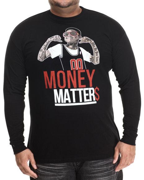 Buyers Picks - Men Black Money Matters L/S Tee (B&T) - $28.00