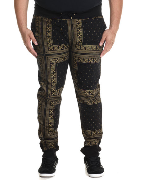 Eight 732 - Men Black Monogram Sweatpant (B&T)