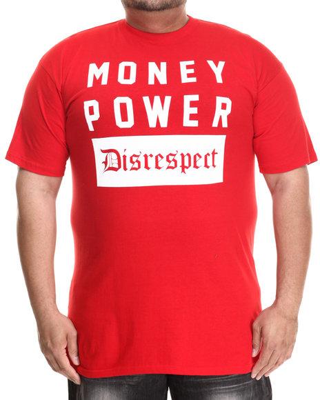 Buyers Picks - Men Red Money Power Disrespect S/S Tee (B&T) - $22.00