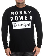 Men - Money Power Disrespect L/S Tee (B&T)
