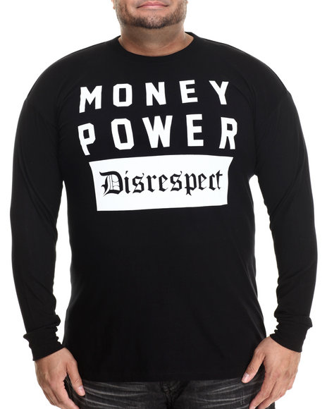 Buyers Picks - Men Black Money Power Disrespect L/S Tee (B&T)