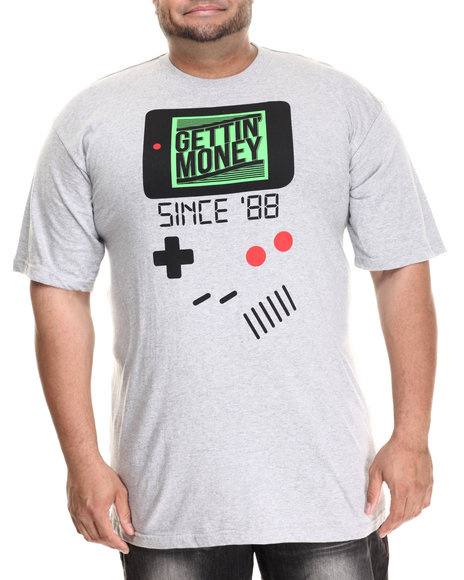 Buyers Picks - Men Grey Gettin' Money Since '88 S/S Tee (B&T)