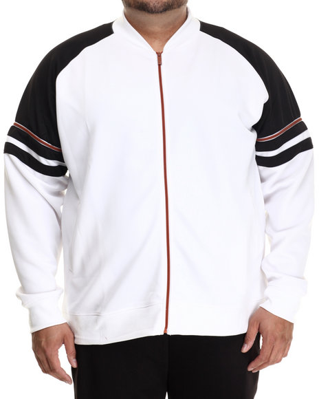 Akademiks - Men White Horizon Neoprene  Copper Track Jacket (B&T)