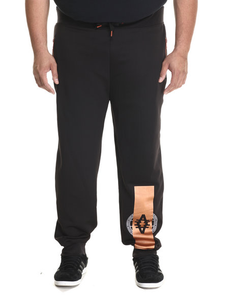 Ur-ID 212782 Akademiks - Men Black Parker Neoprene Copper Detail Sweatpants (B&T)