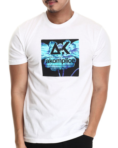 Akomplice - Men White Bright Poppy Logo Tee