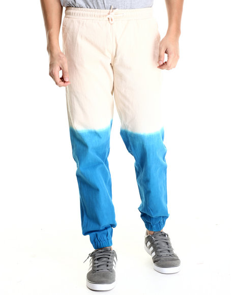 Akomplice - Men Blue,Tan Dipped Jogger Pants - $70.99