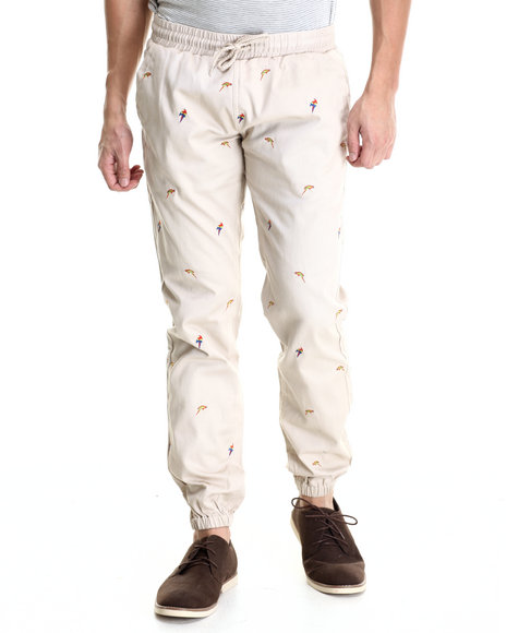 Ur-ID 212813 Akomplice - Men Khaki,Multi Samba Birds Jogger Pants