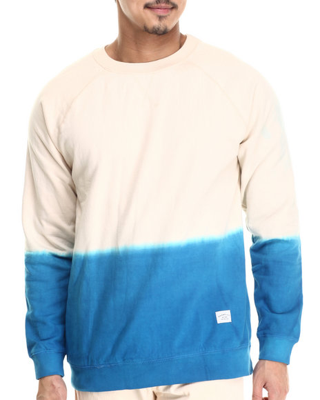 Ur-ID 212818 Akomplice - Men Blue,White Dipped Crewneck Fleece Sweatshirt