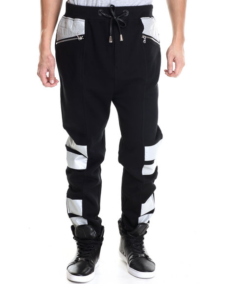 Winchester - Men Black Winchester Slight Drop Crotch 3M Jogger Pants
