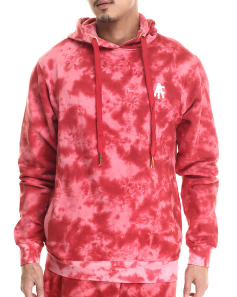 Buyers Picks - Men Red Agents Acid Wash Pullover Hoody